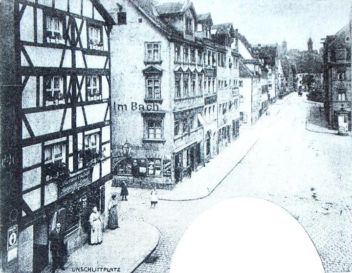 Unschlittplatz Westseite 1905